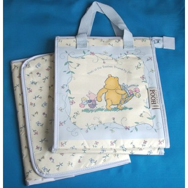 Classic Pooh Baby Boy Diaper Bag and Changing Pad