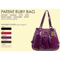 Timi & Leslie Ruby Patent Diaper Bag