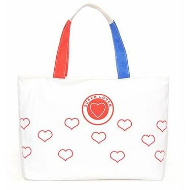 Super Lover Big Red Heart Shoulder Purse Canvas Bag S22