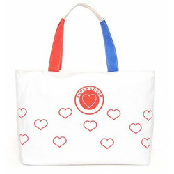 Super Lover Big Red Heart Shoulder Purse Canvas Bag S22