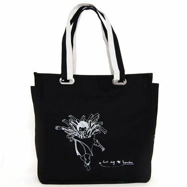 Super Lover French Fries Shoulder Canvas Bag Black S6