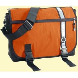 Dad Gear Messenger Bag - Retro Stripe - Orange Diaper Bag