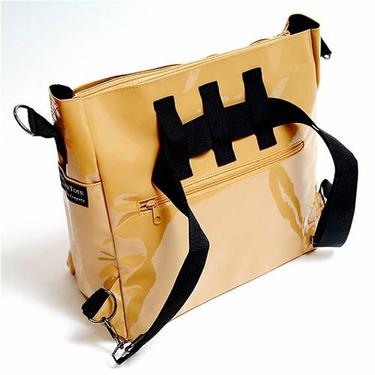 Black Canvas Stroller Tote Messenger Bag