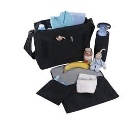 Lassig Messenger Bag Diaper Bag, Flock Purple Magenta