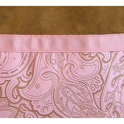 Pink and Chocolate Paisley Microsuede Handbag/Tote Bag