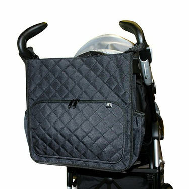 Tote'n Stroll Quilted Diaper Bag- Black