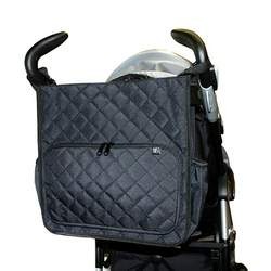Tote'n Stroll Quilted Diaper Bag- Black