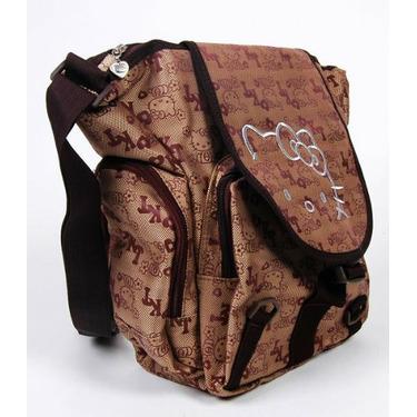 Hello Kitty Khaki Shoulder School Bag Tote Brown