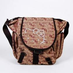 Hello Kitty Khaki Shoulder School Bag Tote Brown