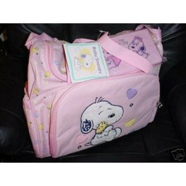Snoopy Baby Diaper Bag Pink Girls New Large Big Size