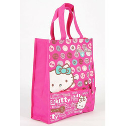 Hello Kitty Handbag Shopping Tote Bag Strap Rose