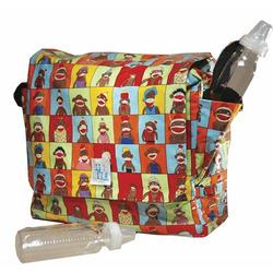 Logan Messenger Diaper Bag in Monkee