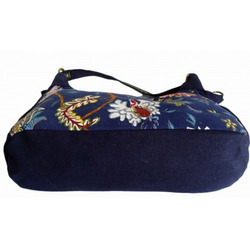 Oriental Charm Shoulder /Message Bag, (blue)