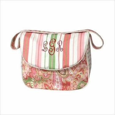Hoohobbers DBMESSENGER Personalized Messenger Diaper Bag in Paisley