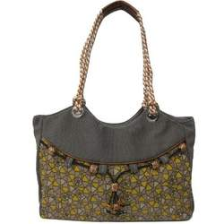 Womens Fabric Slouched Hand Bag (grey)