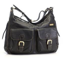 Emily Leather Sak in Black