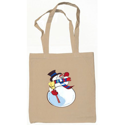 Snowman Tote Bag Natural