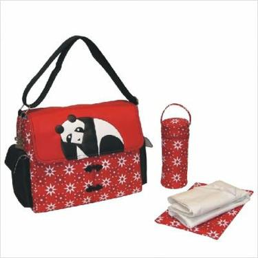Kalencom 0-88161-33055-6 Panda Flap Style Eleanor Design Diaper Bag