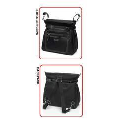 Storksak Claire Diaper Bag (Black)