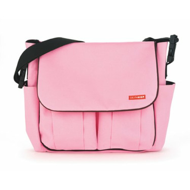 Dash Diaper Bag - BubbleGum with Brown Piping
