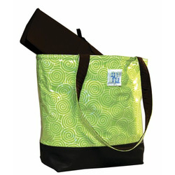 Madison Tote Diaper Bag in Lime Swirl