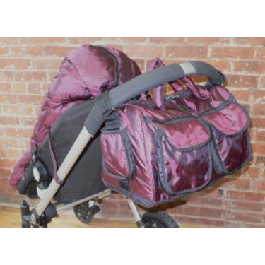 7 A.M Enfant Voyage Bag in Metallic Plum (Small)