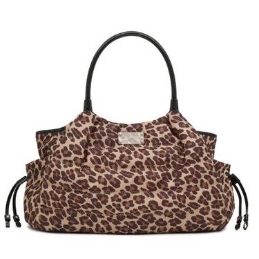 Kate Spade Puffer Leopard Print Stevie Baby Business Bag