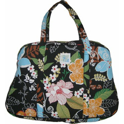 Megan Travel Tote in Fields of Blue