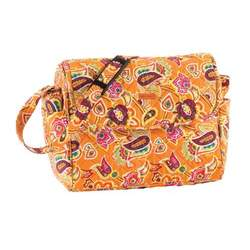 Tangerine Coventry Baby Shoulder Quilted Cotton Tote Bag