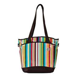 Fleurville Sling Tote Diaper Bag in Cocoa Stripe