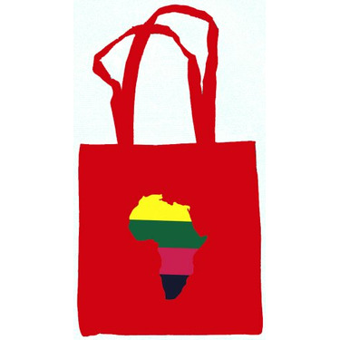 Africa Tote Bag Red