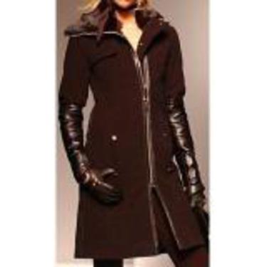 Rudsak Leather Sleeve Coat