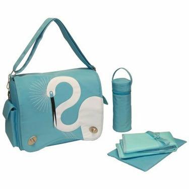Kalencom Eleanor Diaper Bag - Egret Turquoise - KAL325