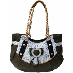 Womens Fabric Slouched Hand Bag (coffee)