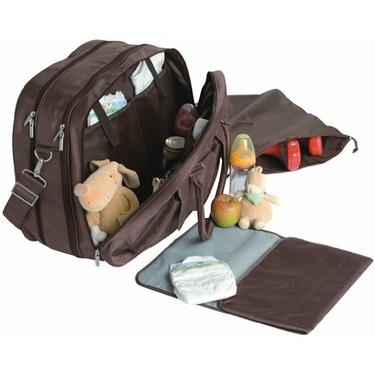 Lassig Gulliver's Eco-Friendly Diaper Bag, Patchwork Choco