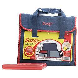 Sassy Baby To Go Denim Diaper Bag