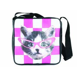 J.I.P. School Bag Funky Head, Cat Pink