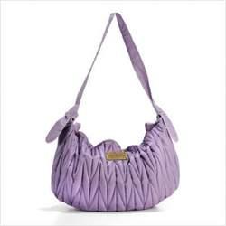 Genvieve Diaper Bag in Grape
