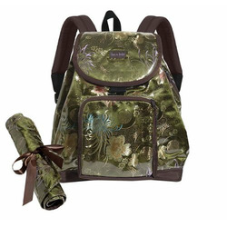Mia Brocade Backpack Diaper Bag