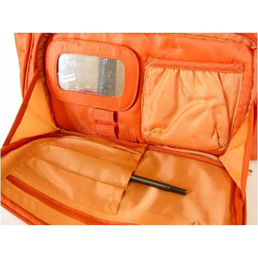Sunset Orange Lug Koie Puddle Jumper Overnight , travel, gym or diaper bag with pockets galore