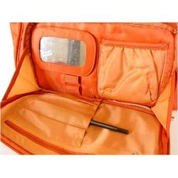 Sunset Orange Lug Koie Puddle Jumper Overnight , travel, gym or diaper bag with pockets galore