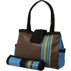 Chocolate Bomber Diaper Tote with Changing Pad