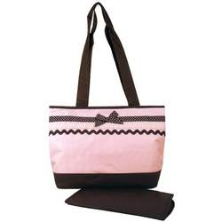 Baby Essential Pink Polka Dots Ribbon Shoulder Diaper Bag