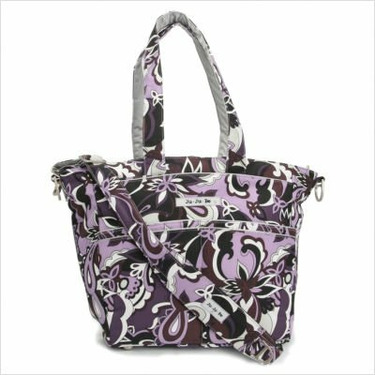 Be Spicy Diaper Bag Tote in Purple Paisley