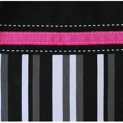 Black, White, Grey and Pink Multicolor Stripe Handbag / Tote Bag
