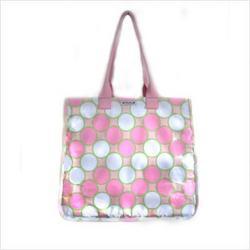 Rock the Tote Diaper Bag in Tag Pink