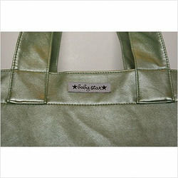 Rock the Tote Diaper Bag in Metallic Green