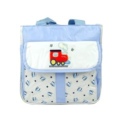 Tender Kisses Blue Train Cooler Diaper Tote Bag