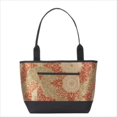 Baby Diaper Bag (Includes Removable Changing Pad) Fabric: Chocolate Posie