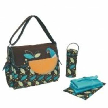 Eleanor Flap Diaper Bag in Pheasant